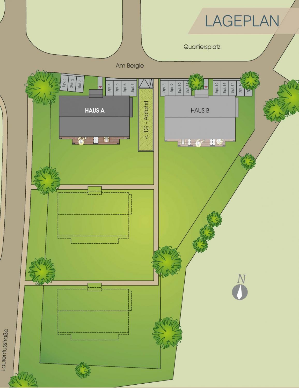 """Lageplan unseres Bauvorhabens """"Am Bergle"""" in Schlier"""