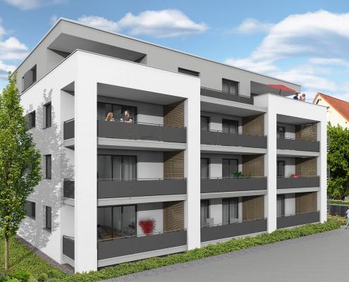 Foto unseres Bauvorhabens in der Ortsmitte Baienfurts