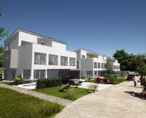 Visualisierung unseres Bauvorhabens in der Fabrikstraße in Mochenwangen