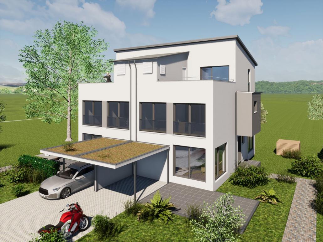 Visualisierung unseres Bauvorhaben in Mochenwangen