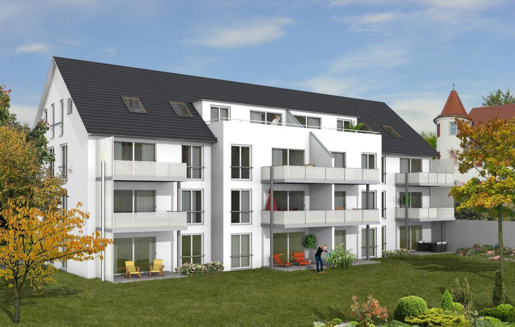 Visualisierung unseres Bauvorhabens in der Andreas Hofer Straße in Brochenzell