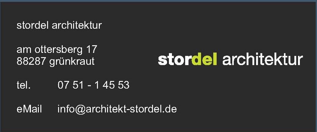 Unser Partner: Logo unseres Partners Stordel Architektur