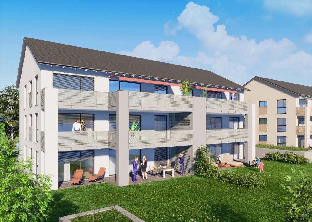 """Foto unseres Bauvorhaben """" Am Bergle"""" in Schlier"""