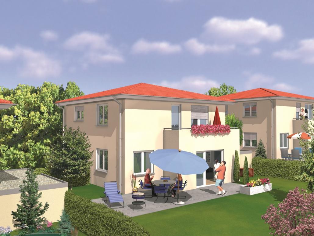 Visualisierung unseres Bauvorhabens an der Mühlensteige in Schlier